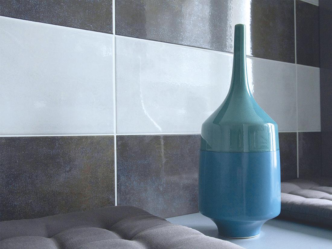 Peinture noir et blanc chambre for Salle de bain turquoise et noir