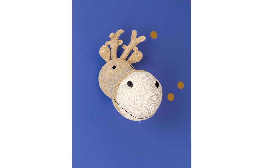 Trophée Cerf crochet doré