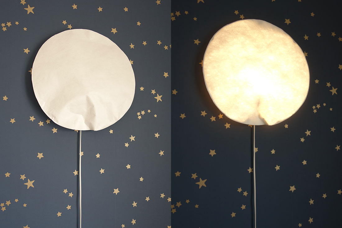 applique papier lune