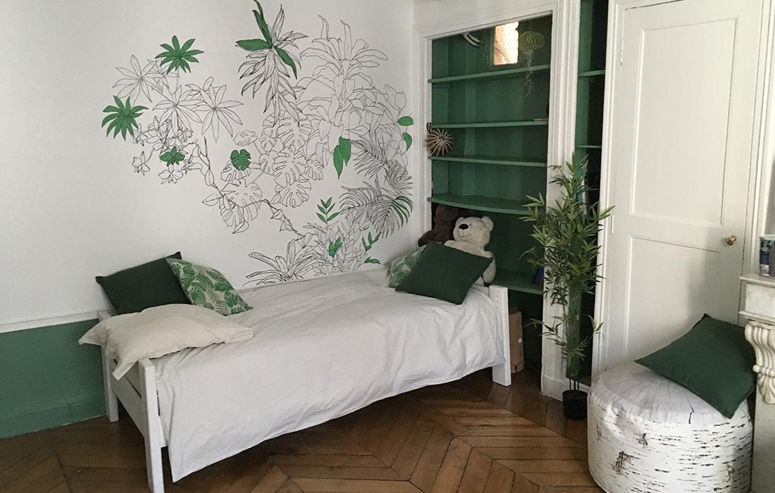 plan chambre enfant nature